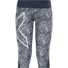 2XU Mid-Rise 3/4 Compression Tights Women Ombre Blue/Vein Dense Pattern